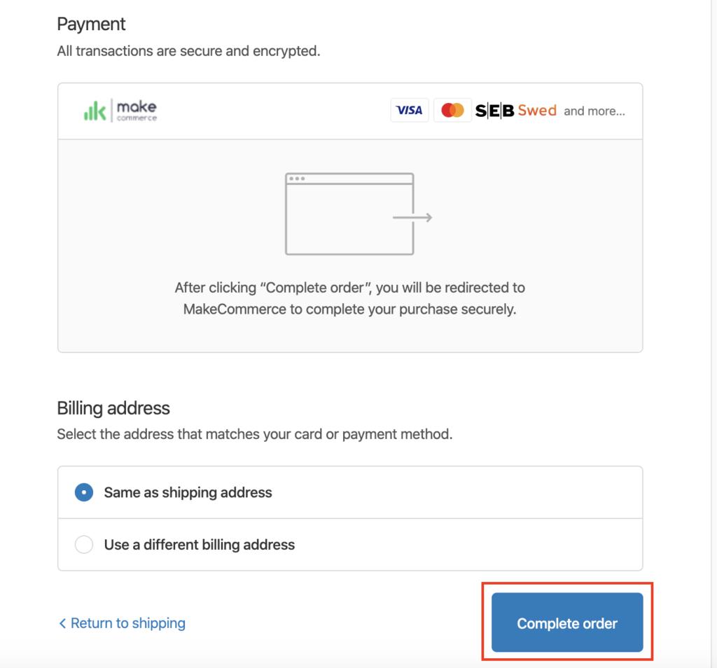 maksājuma metode
