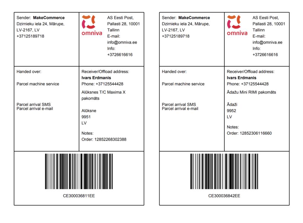 Label card